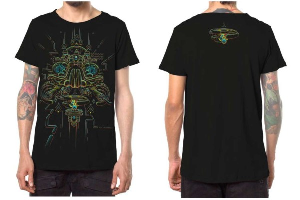 T-Shirt ORACULAR schwarz