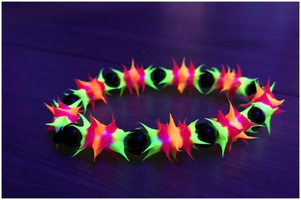 Armband #6 pink/orange uv aktiv