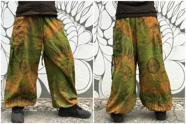 Pluderhose Herbst batik