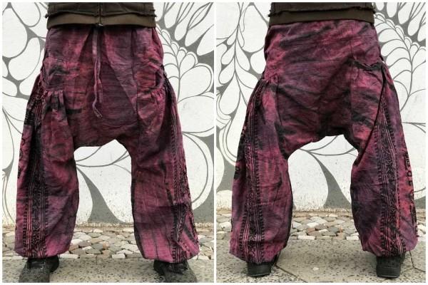 Haremshose purple batik