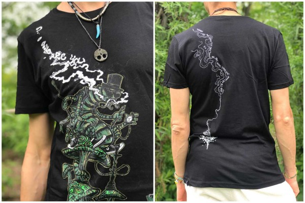T-Shirt Caterpiller schwarz Plazmalab Streewear Psywear