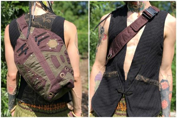 Side Bag brown / dark green