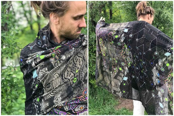 Schal PSYGALAK (Bambus) Yacxilan Artwear