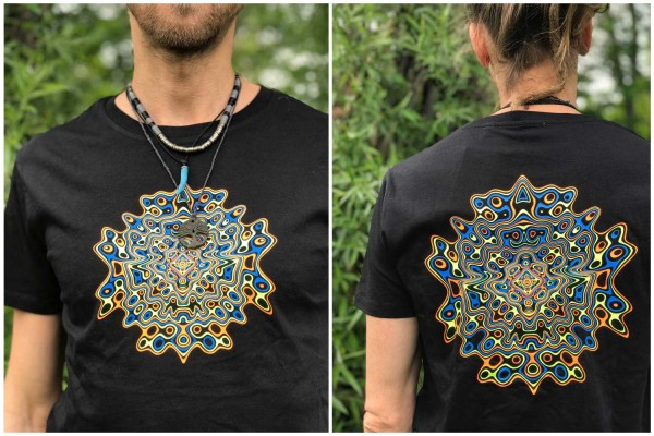 T-Shirt Fimo schwarz von Caos Conzept Berlin Psy
