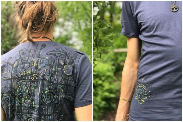 T-Shirt DUSS DARK GREY Plazmalab Streewear Psywear uv aktiv