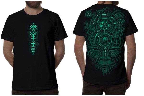T-Shirt Night Vision schwarz grün