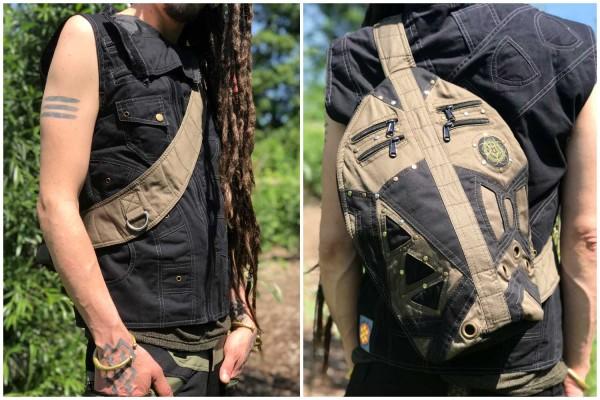 Side Bag black / khaki