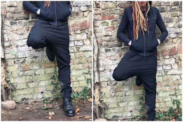 Hose Panelled Baggy Trunks black Goa Hose, Tribal Kleidung, Herren Hippie Kleidung, Festival Kleidung, Psy wear, Psychedelic Kleidung, Psy Kleidung