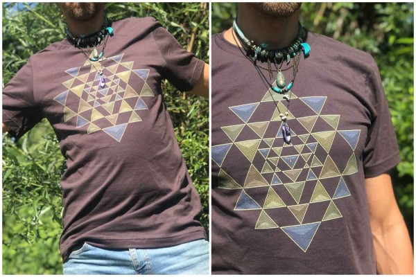 T-Shirt Shri Yantra brown